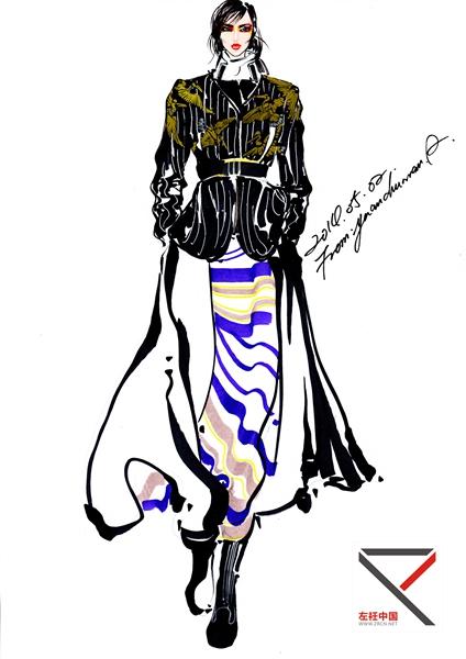 时装画作品- 服装效果图-中国最专业的服装设计灵感源
