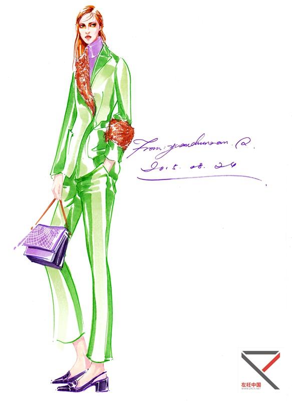 教师马克笔时装画作品- 服装效果图-中国最专业的服装