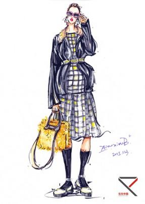 一系列服装效果图手绘内容|一系列服装效果图手绘版面设计