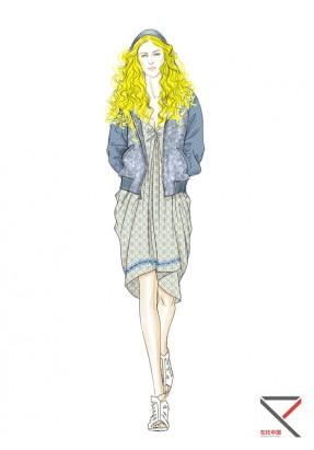 教师sunny服装手绘效果图作品